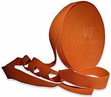 Orange 25mm Cotton Webbing Tape Strapping 1 Inch