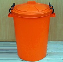 Orange 50 Litre Bin/Storage For Homes Gardens
