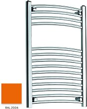 Orange 800mm x 600mm Curved 22mm Towel Rail -