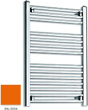 Orange 800mm x 600mm Straight 22mm Towel Rail -