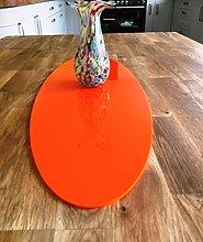 Orange Acrylic Oval Table Runner - Large - 60 x 22