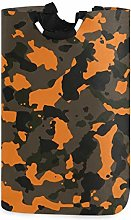 Orange and Brown Fashion Camo Laundry Hamper