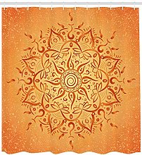 Orange Arabian Mandala High-definition printed