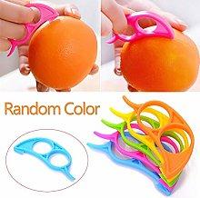 Orange Citrus Peelers, 4pcs Plastic Round (Citrus