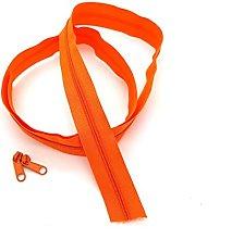 Orange Continuous Zip & Sliders No. 5 Zippers