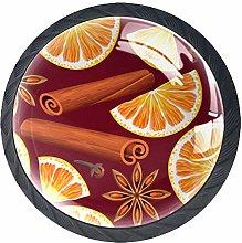 Orange Leaves Crystal Drawer Handles Furniture