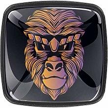 Orange Monkey Square Cabinet Knobs 4pcs Knobs for