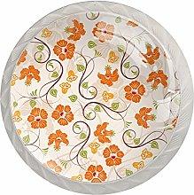 Orange Pattern White Drawer Handles Furniture