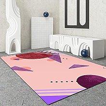 Orange Pink Series Rectangular Carpet Waterproof