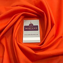 Orange PolyCotton Fabric - Dress Craft 44 Inch