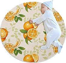 Orange Rugs Ultra Soft Play Tent Rug Circular Area