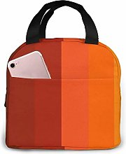 Orange Series Stripe Reusable Insulated Lunch Bag