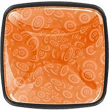 Orange Solid Kitchen Cabinet Knobs Square Drawer