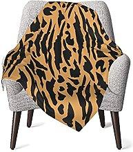 Orange Spots Tiger Pattern Baby Blanket Double