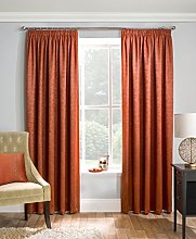 Orange Thermal Woven Readymade Blockout Curtain