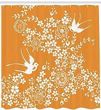 Orange Tree Bird Art High-definition printed