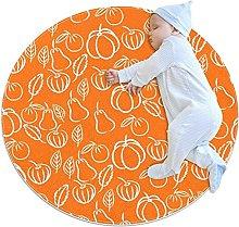 Orange vegetables, Round Area Rug Pattern Round