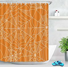 Orange Waterproof Shower Curtain Accessory For