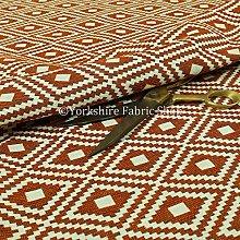 Orange White Colour Kilim Pattern Textured