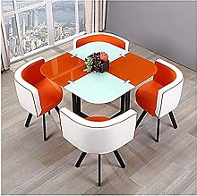 orangeRound Dining Table and Chair Set Home Dining