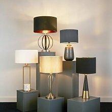 Orbit floor lamp, black and gold