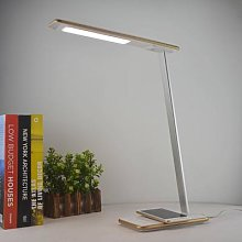 Orbit LED desk lamp with induction, gold
