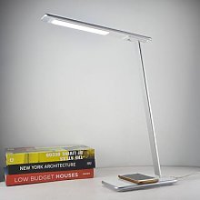 Orbit LED desk lamp with induction, silver
