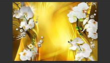 Orchid in Gold 210cm x 300cm Wallpaper East Urban