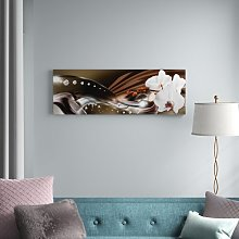Orchid Trail Graphic Art Print on Canvas Canora