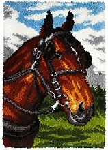 Orchidea Latch Hook Rug Kit Horse, Assorted,
