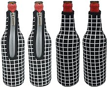 Orchidtent Beer Bottle Cooler with Zipper, 17.6 Oz