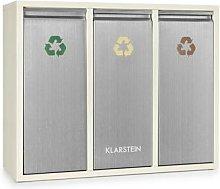 Ordnungshüter 3 Rubbish Bins Waste Separator 45L