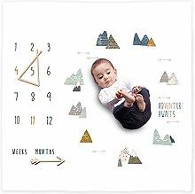 Organic Baby Monthly Milestone Blanket Newborn Boy