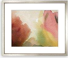 Organic Watercolours Framed Print & Mount, 97 x