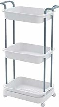 Organizer Storage Trolley Cart 3-Tier Storage Cart