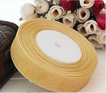 Organza Ribbon 10mm - Gold - 46 Metres / 50 Yards