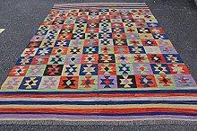Oriental Afghan Handmade Kilim Area Rug Wool