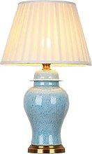 Oriental Ceramic Table Lamp, Vintage E27 LED Desk