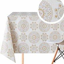 Oriental Mandala Pattern Wipe Clean Tablecloth -