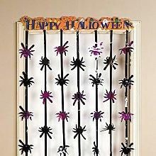 Oriental Trading Foil Happy Halloween Door Curtain
