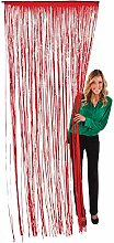 Oriental Trading Fringe Door Curtain, Red