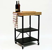 Origami Folding Kitchen Cart on Wheels | for Chefs