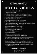 Origin Hot Tub Rules - Black & White/Blue & White