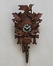 Original Black Forest cuckoo clock with moving