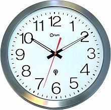 Orium 35 cm Stainless Steel Uk Waterproof Clock,