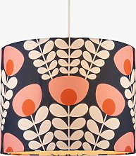 Orla Kiely Bunch of Stems Lampshade, Navy/Pink