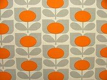 Orla Kiely Ditsy Cyclamen Orange Designer Cotton