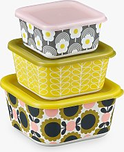 Orla Kiely Flower Bamboo Nesting Food Storage