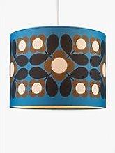 Orla Kiely Flower Tile Lampshade, Blue