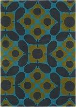 Orla Kiely Flower Tile Rug, L230 x W160 cm